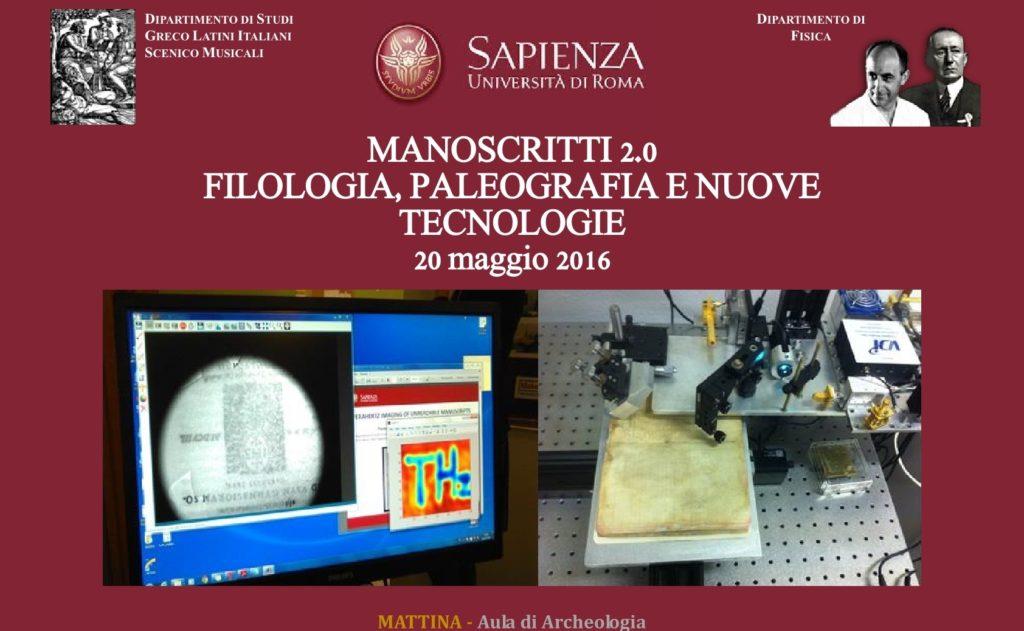 Locandina Manoscritti 2.0 20.05.20161 PER COPERTINA SITO